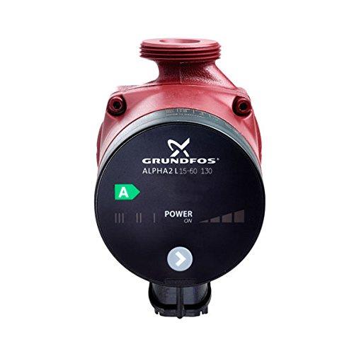 Grundfos 95047568schwarz/rot Alpha 15–602Liter Variable Speed Thermostat Pumpe
