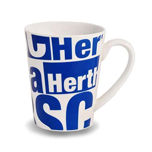 Hertha BSC Berlin Schriftzug Tasse (one size, Weiß)