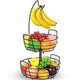 Bextsrack 2 Tier Fruit Basket Bowl with Banana Hanger...
