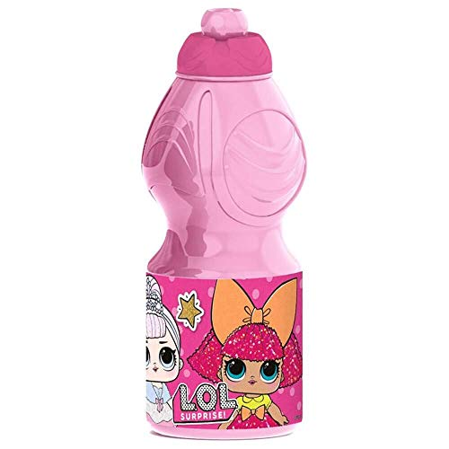 Rainbowfun.de L. O. L. Surprise Botella, 400 ML, Rosa, Plástico