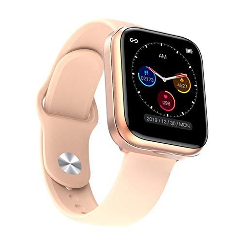 QY-Youth Reloj Inteligente con Auriculares Bluetooth Monitor de Ritmo cardíaco Smart Shistand Smart Watch Hombres Deportes Auriculares,Oro