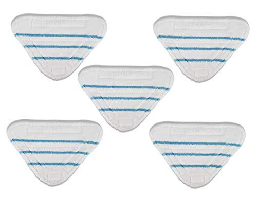 Supremery 5x Ersatz-Bodentuch für Cleanmaxx Dampfbesen passend für Version 3in1 und 5in1 | Wischbezug Ersatzbezug | Starke Saugfähigkeit, Wiederverwendbar | Mikrofaser maschinenwaschbar bis 40 °C
