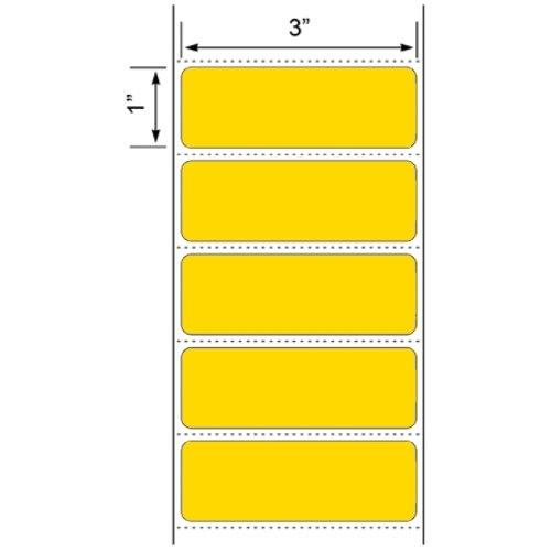 1 Roll Yellow 3x1 Direct Thermal 1375 Labels Per Roll for Zebra Eltron Barcode Shipping Desktop Printers ZP450 LP2844 LP2442 TLP2844 GC420d GC420t GK420d GK420t GX420d