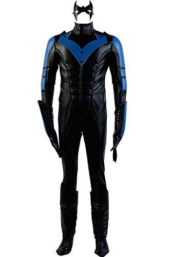 Men's Halloween Costume Richard John Dick Grayson Outfit Nightwing Costume,Large Black