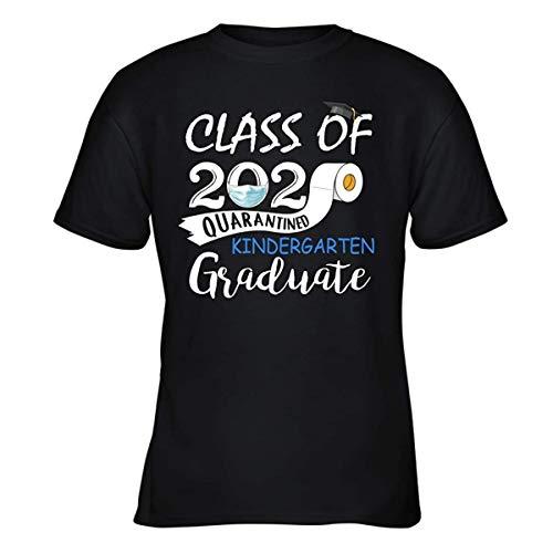 Maglietta per giovani classe 2020 in quarantena scuola materna laureata tees divertente regalo estivo Nero S