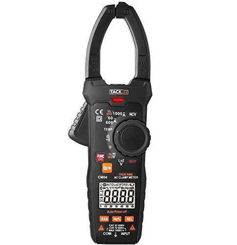 Tacklife CM04 : testeur automatique et pince ampèremétrique - 1000A 1000V max