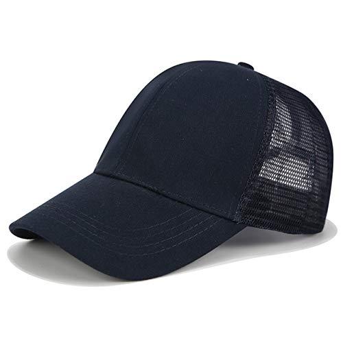 2020 gorra de béisbol con cola de caballo con purpurina para mujer, gorra de malla para papá, gorras de camionero, gorro de verano con moño desordenado, sombreros ajustables de Hip Hop para mujer-a54