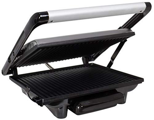 Trendyshop365 contactgrill roestvrij staal sandwich-broodrooster panini-maker vlees 2000 Watt vetopvangbak elektrische grill tafelgrill