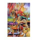 BGFDV Body Art Moderna, Corpo sconcertato, Corpo, Donne, Pittura a Olio su Tela, Poster e Stampe, Immagini murali del Soggiorno