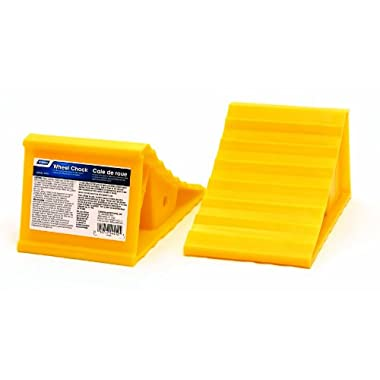 Camco Wheel Chock Without Rope, Helps Keep Your Trailer RV In Place (Pack of 2) (41444)