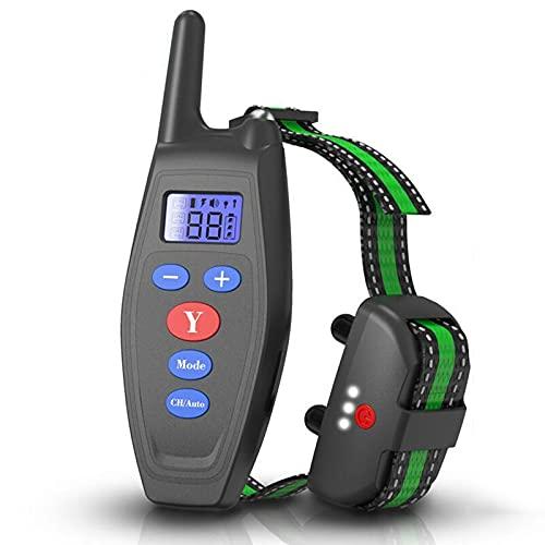 ZHIWE Hundehalsband USB Vibrationshalsband Wiederaufladbares mit Fernbedienung Wasserdichtes einstellbares erziehungshalsband für große mittlere kleine Hunde(Color:Schwarz)