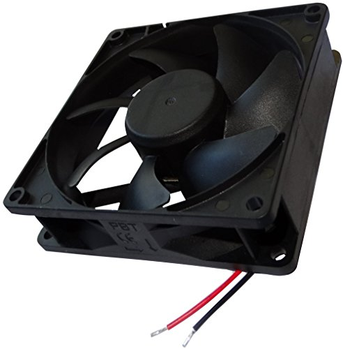 AERZETIX: Ventilador para Caja de Ordenador PC 24V 92x92x25mm 127,42m3/h 47dBA 4500rpm 5.28W 0.22A con Bolas 2 Cables 24AWG C14566