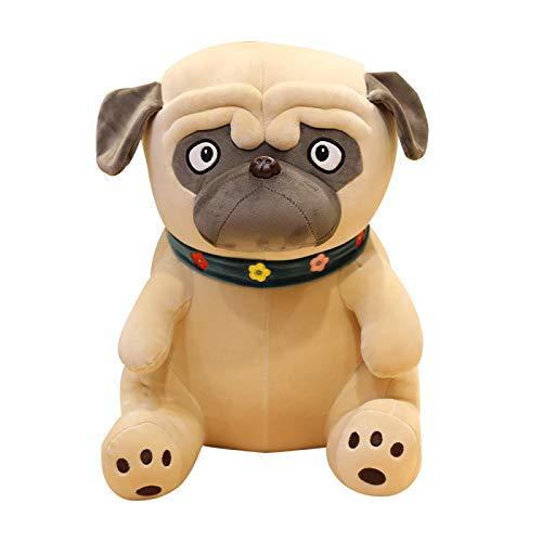 Yqs - Peluche a forma di carlino, giocattolo per bambini, morbido, con animale, 50 cm, colore: Champagne