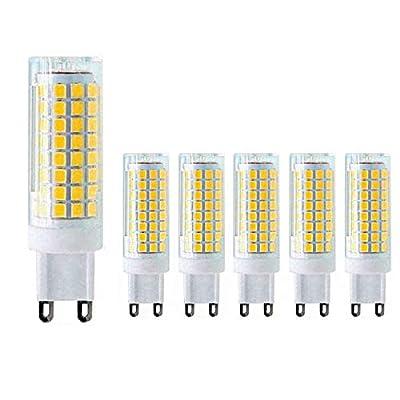 MD Lighting 10W G9 LED Bulb Dimmable LED Corn Light Bulbs(6 Pack)- 100W G9 Halogen Bulbs Equivalent 4000K Natural White Ceramic G9 LED Light Bulbs for Home Lighting Chandelier Ceiling Fan, AC120V