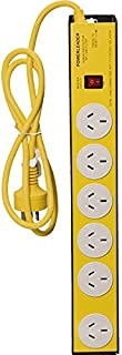 L54222 6X Powertough Metal Powerboard Yellow Heavy Duty - 9318054754222