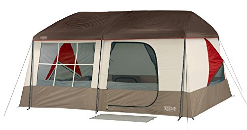 Wenzel Kodiak 9 Person Tent, Tan/Red