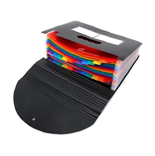 WFIT A4 Regenbogen-Organ-Tasche 24 Ebene Erweiterung Dateiordner Akkordeon Document Organizer Placstic Für Schule Und Büro-Gebrauch 1pc