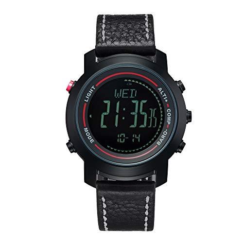 Multifunctionele outdoor sport horloge, lichtgevend + waterdicht + 3D stap + weer monitoring en andere multifunctionele gezondheid horloge armband, C