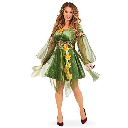 Kostüm Waldelfe Kleid grün Herbstfee Fasching Garten Elfe Fee Waldfee (40)