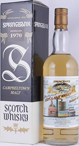 Springbank 1970 20 Years Pure Barley Malt Cask 3341 Campbeltown Single Malt Scotch Whisky 46,0 Vol. - einer der legendären old Style Pure Barley Single Cask Whiskys von Springbank - only 750 Bottles!