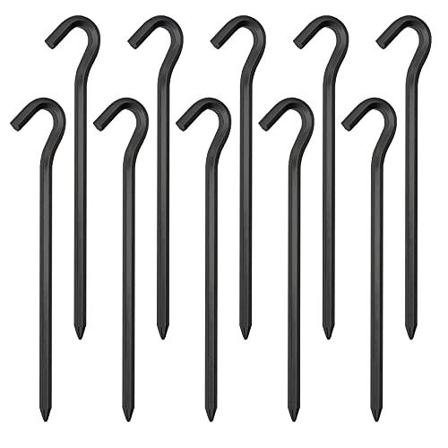 LYYDAN Zeltheringe 10 Stück, 18cm Aluminium Zelthaken Heringe Erdnägel für Zelt, Sechseckige Zeltnägel Sandheringe Für Camping Markise Netting Plane