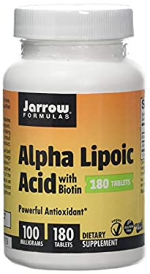 Jarrow Formulas Alpha Lipoic Acid, 100mg with Biotin - 180 Tabs, 180 Tablet