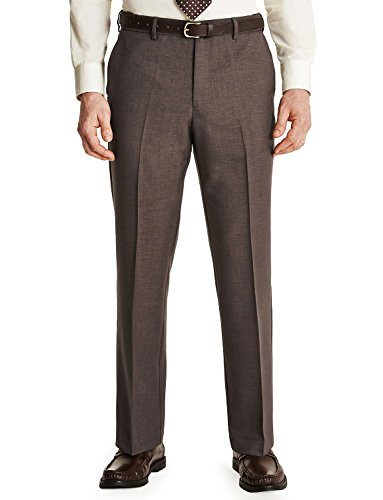 FARAH Mens Flex Trouser Pants with Self-Adjusting Waistband Taupe 52W x 27L