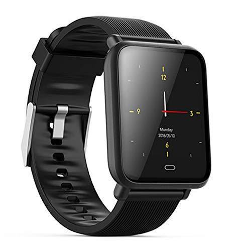 FXAOYWT Fitness Smart Watch Outdoor-Sport-Tracker IP7 wasserdicht Herzfrequenz Schlafüberwachung, Anruferinnerung, mehrere Sportarten,Black