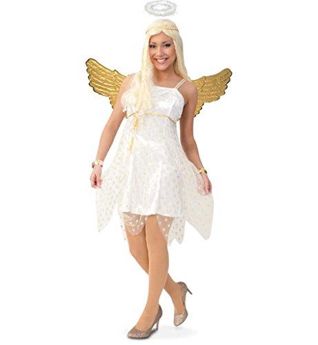 KarnevalsTeufel Damenkostüm Sirena Engel Weihnachten Kleid Gr 34 - 42 (34)
