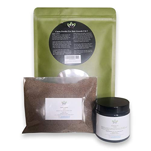 (Authentic Traditional Chebe powder from Chad 100g with Karkar oil 120ml)
