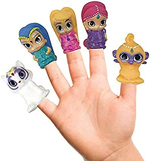 Nickelodeon Shimmer and Shine Finger Puppets 5 Piece - Multicolour