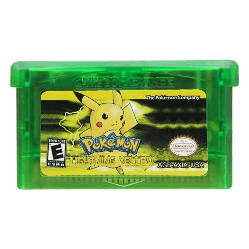 New Pokemon Lightning Yellow Reproduction Game Card Gameboy Advance Cartridge For GBM GBA SP NDS NDSL