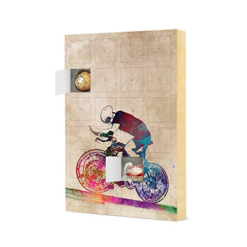 artboxONE Advent Calendar with Ferrero chocolate Cyclist Sports Christmas Calendar