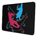 Alfombrilla de ratón Latias and Latios Go Alfombrilla de ratón de Goma Antideslizante Alfombrilla de ratón para Juegos Alfombrilla de ratón portátil de Escritorio 18×22 cm