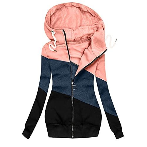 Chaqueta de entretiempo de invierno para mujer, chaqueta larga, resistente al viento, informal, ligera, parka de moda para exteriores, con ajustable