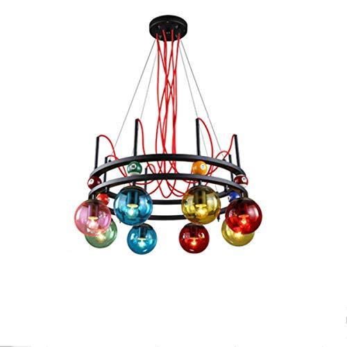 Xiao Fan persoonlijkheid ijzer kroonluchter creatieve magische bonen gekleurde glazen bol hanglamp 8 vlammen energie-efficiëntie A ++