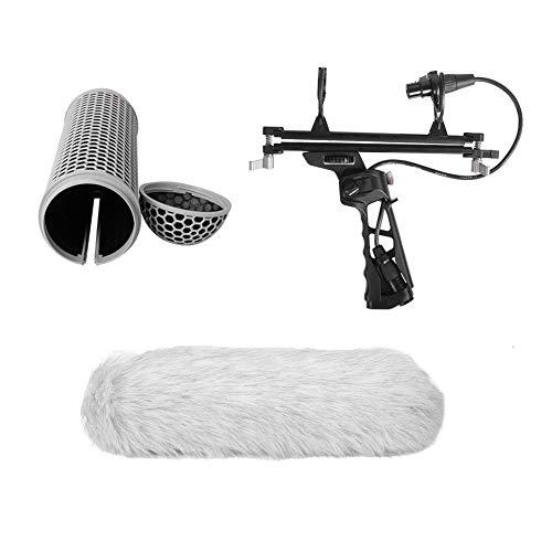 Mikrofon Wind Protect Cage Windschutzscheibe Schwingungsdämpfer-Suspension System Kompatibel mit RODE NTG1 / NTG2 / NTG3 / NTG4 / NTG4 für Schreibtisch Montage Profi Tisch Mikrofonarm