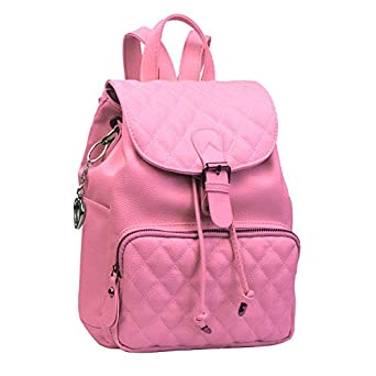 Alice Fashion Women Suture Rhombic Backpack Waterproof Anti-theft Lightweight PU Leather Shoulder Diagonal Bag Travel Ladies Purse