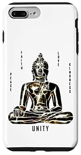 iPhone 7 Plus/8 Plus Buddha Peace Faith Love Kindness Unity Meditation Case