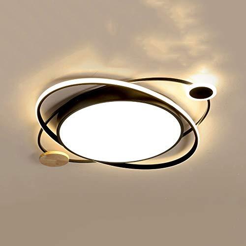 ZGZRXGY Luz de Techo de Montaje Simple de Macaron, dimmable 3000k-6000k, con lámpara de Techo de Madera, Usado en la Cocina de Dormitorio y Accesorios de luz de Comedor (Color : Tricolor)