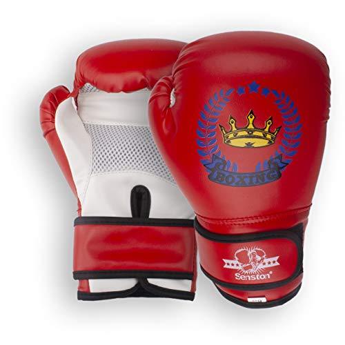 Senston Guantes de Boxeo 4 6 OZ Guante de Entrenamiento Guantes de Kickboxing para Boxeo, Artes Marciales, MMA, Boxing Gloves de Combate