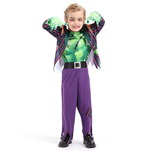 Avsvcb Cosplay Disfraz de Navidad para niños científico de Laboratorio Regalo de Novedad de Halloween Disfraz de Frankenstein investigador Cosplay
