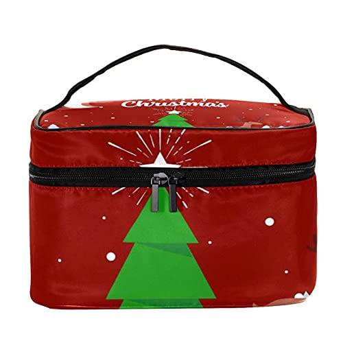 Bolsas de maquillaje para mujeres y nis Estuche organizador de cosmicos de mano bolsa portil de viaje Neceser de Navidad Campana de caramelo fondo, Multicolor 4 Neceser