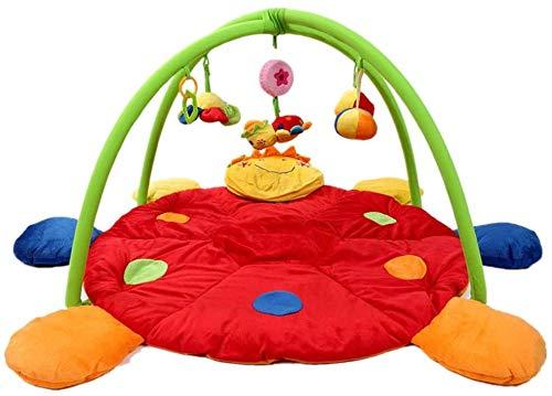 WOHAO Spielzeug-Pad Baby-Spiel-Matte Baby Mats Spiele, Spielhallen, Neugeborene Babys und Kleinkinder, Zähne Gel, Spielzeug leicht zu reinigen (Farbe: Mehrfarbig, Größe: 90x90x50cm)