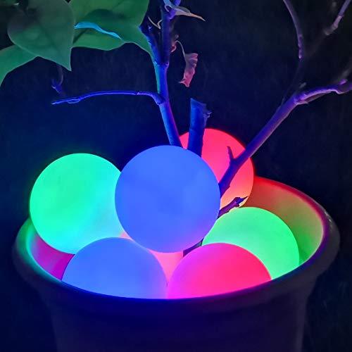 LED Spa Licht, IP68 Wasserdichtes schwimmendes Licht Pool, RGB Farbwechsel LED Badewanne Nachtlicht, Whirlpool Leuchten Ball Licht Geschenk für Kinder Baby Liebhaber Freunde Familie Geburtstag -2pcs