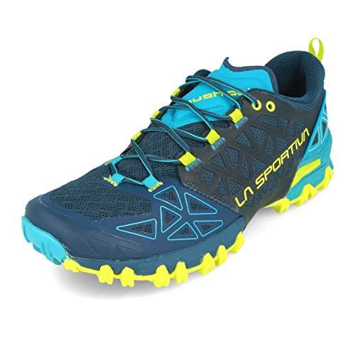 LA SPORTIVA Bushido II, Chaussures de Trail Homme, Opal/Apple Green, 43.5 EU