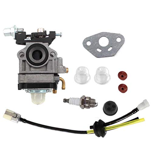 AISEN Carburetor for Tanaka TBC-220 TPH-260PF 25CC Long Reach Pole Hedge Trimmer Carb Gasket Fuel Line Tune Up Kit