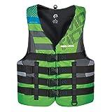 SeaDoo - Chaleco de flotación individual de nailon de secado rápido, para moto de agua y deportes acuáticos (XL, verde)