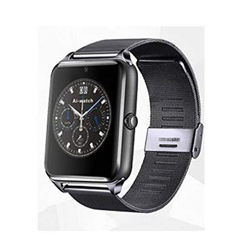 Bluetooth Smart Watch Männer Frauen Armbanduhr Unterstützung Kamera SIM/TF-Karte Sportuhren,Schwarz