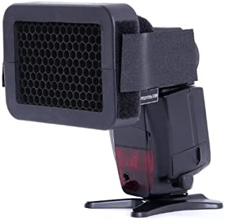 Movo Quarter Inch Honeycomb Quick Grid Camera Flash Attachment Accessory for Lighting Effects